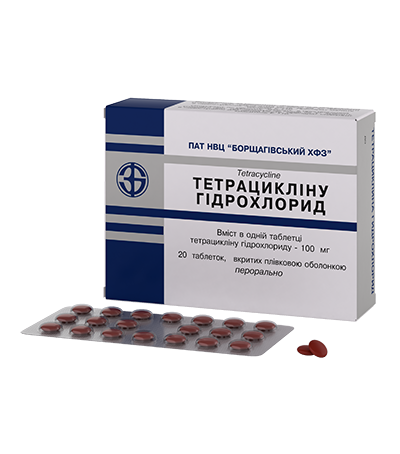 Тетрацикліну гідрохлорид Tetracycline / J01A A07