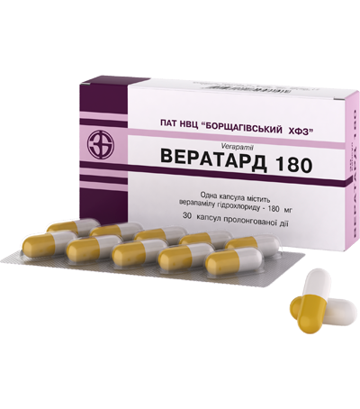 Вератард 180  Verapamil / C08D A01