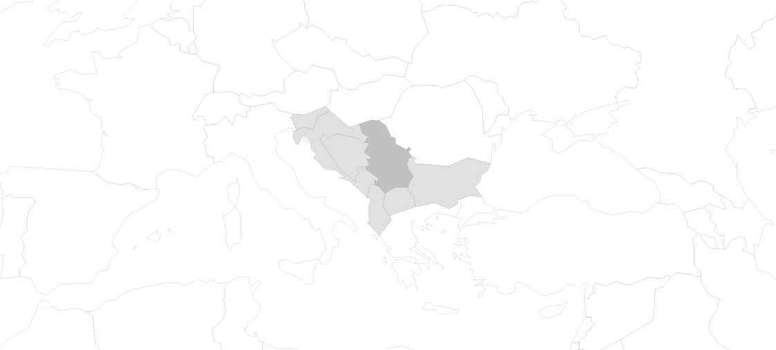 map serbia